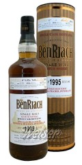 BenRiach 1995 19 Jahre, Cask 2693 - Port Hogshead, Specially Selected - by Monnier & Trachsel, Switzerland 0,7 ltr.