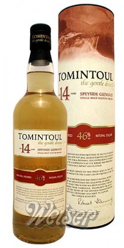 Tomintoul 14 Jahre Speyside Glenlivet Single Malt Scotch Whisky 0,7 ltr.