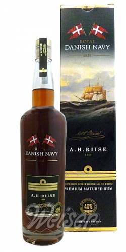 A. H. Riise Royal Danish Navy Rum 40% 0,7 ltr.
