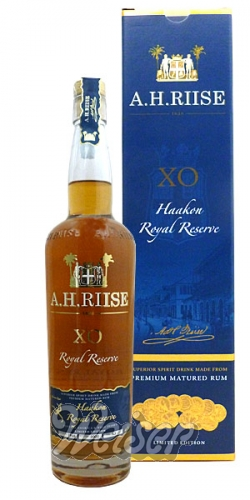 A. H. Riise X.O. Royal Reserve Rum 0,7 ltr. Kong Haakon VII.