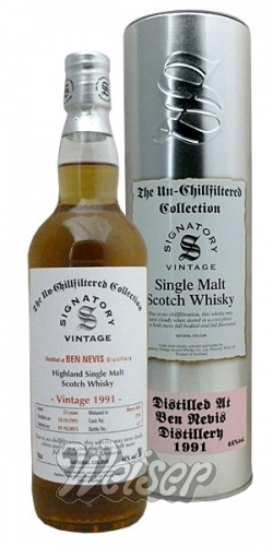 Ben Nevis 1991 23 Jahre, Cask 3718 The Un-Chillfiltered Collection, Signatory 0,7 ltr.