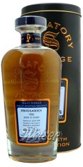 Bruichladdich 1990 25 Jahre, Cask 141 - Cask Strength Collection, Signatory 0,7 ltr.