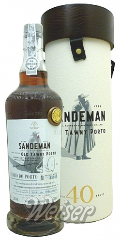 Sandeman Old Tawny Port 0,75 ltr. Aged 40 Years