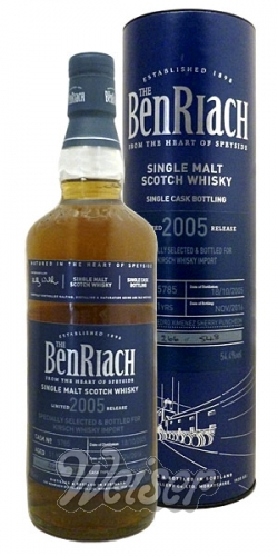 BenRiach 2005 11 Jahre, Cask 5785 Selected for Kirsch Whisky Import 0,7 ltr.