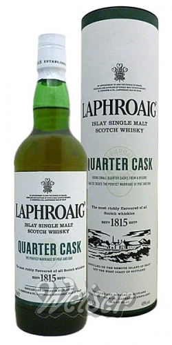 Laphroaig Quarter Cask Single Malt Scotch Whisk(e)y FEHLDRUCK!! 0,7 ltr.