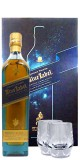 Johnnie Walker Blue Label 0,7 ltr. Limited Edition Design Gepa mit zwei Kristall Tumblern