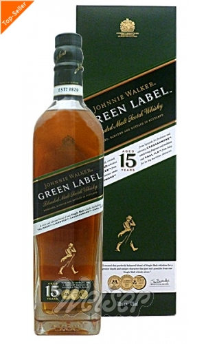 Johnnie Walker 15 Jahre Green Label 0,7 ltr. Blended Malt Scotch Whisky