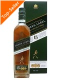 Johnnie Walker 15 Jahre Green Label 0,7 ltr. - Blended Malt Scotch Whisky